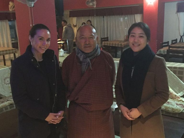 Janine Elizabeth and Bomi with the Director General of the Royal Government of Bhutan
