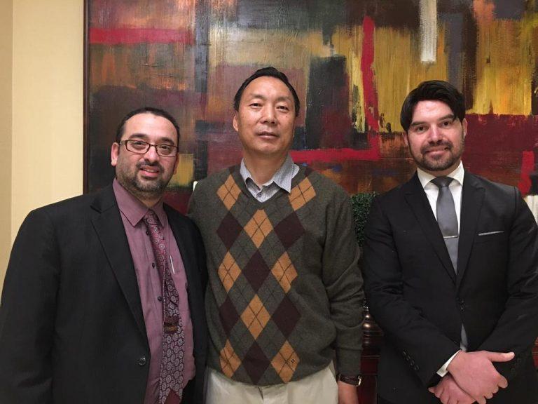 With Prime Minister of Bhutan's Secretary in Sydney Australia – accompanied with me is Lukasz Wyszynski, FBP Lawyer