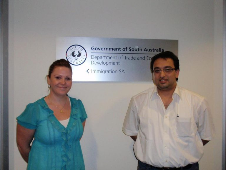 With Immigration South Australia in Adelaide Office, Government of South Australia