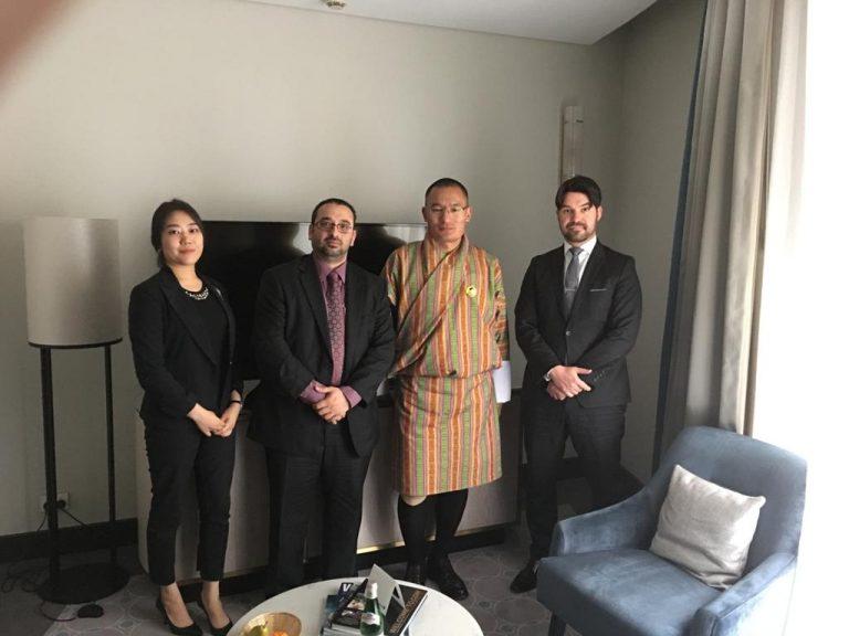 With Hon Prime Minister of Royal Government of Bhutan in Sydney, Australia – accompanied with Lukasz Wyszynski, FBP Lawyer